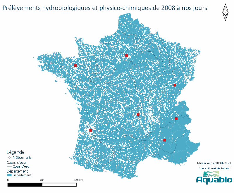 CARTE DES PRELEVEMENTS